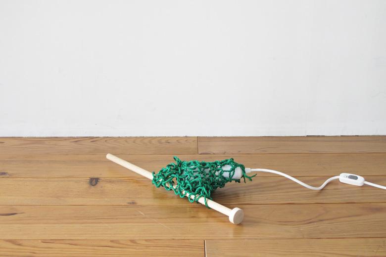 覆われた照明 ハンディタイプ 編み棒付き グリーン (カバーオール) / バブーシュカ・カルテット