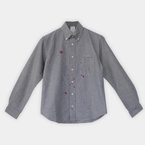 赤ワイン用シャツ 長袖  グレ-カラー / デザイン・アゲインスト・トレンド