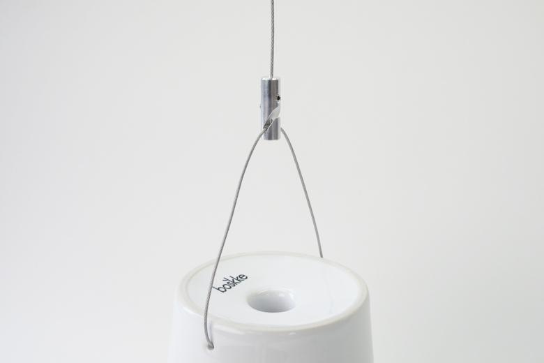 逆さま自動給水プランター 延長用ワイヤーフック付き Sサイズ (スカイプランターオリジナル) / ボスケ