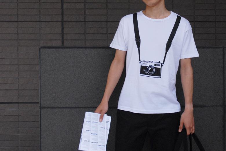 クリックカメラシャツ (カメラ小僧Tシャツ) レディース