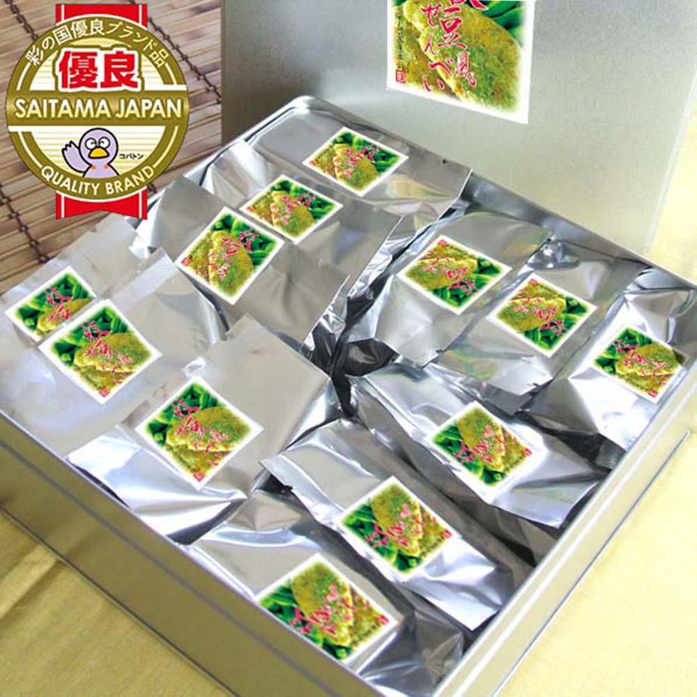 枝豆風せんべい【缶】7枚×12袋入