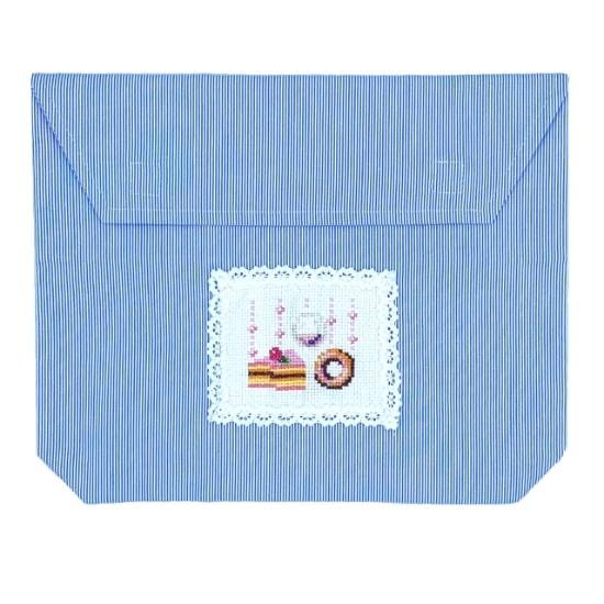 手刺繍多目的袋
