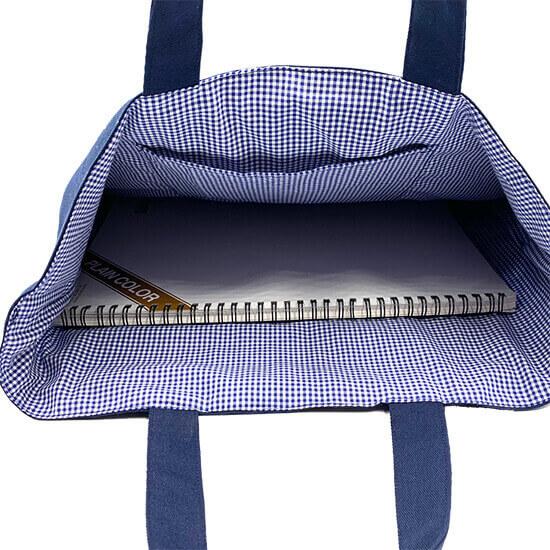 スモッキング刺繍レッスンバッグ(チェックフラワー)