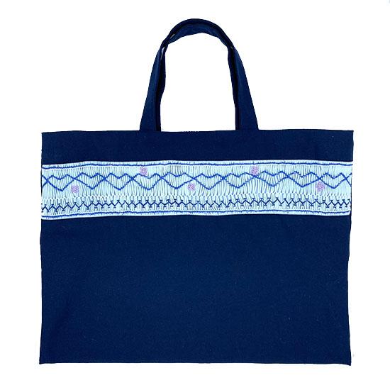 スモッキング刺繍レッスンバッグ(ウェイブフラワー)