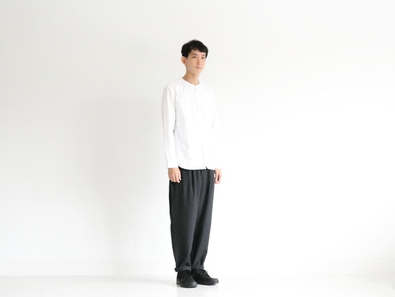 2/60ウール綾織 ワンタックイージーパンツ R43101 RINEN men