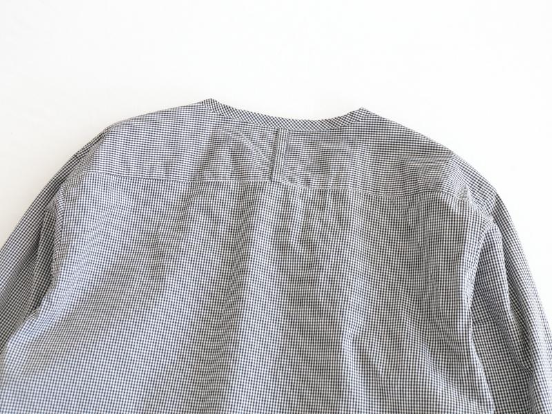 100/2ブロード 比翼バンドカラーシャツ R34100 RINEN+ men