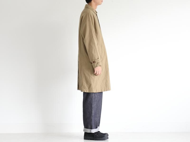 40/2高密度平織 ステンカラーコート R23104 RINEN men