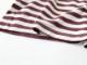 40/2インド超長綿天竺ボーダー ツインドットクルーネックワイドTシャツP92169  prit