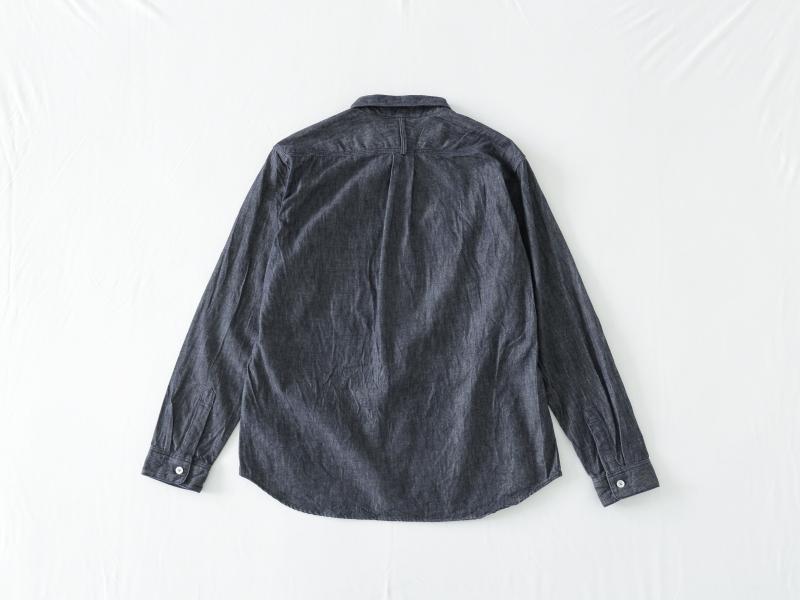 6オンス ノットインディゴデニム レギュラーカラーシャツ 38050 TEIBAN men