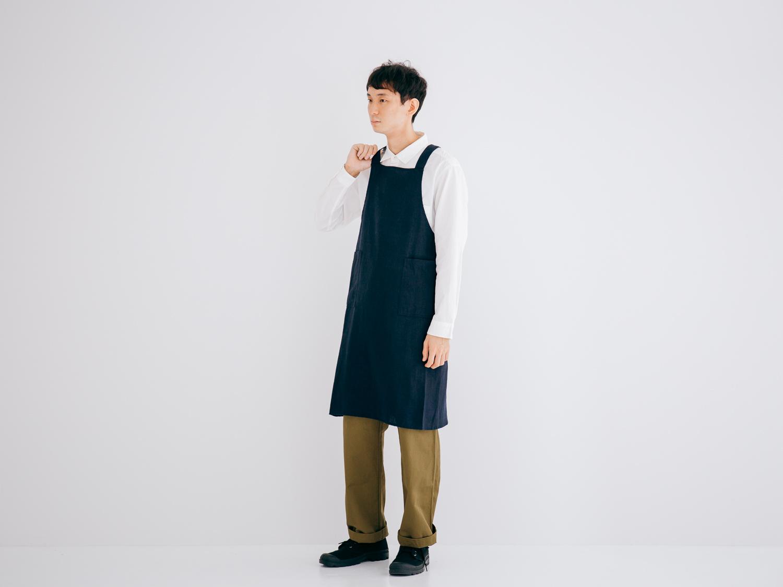 25/1リネン平織 エプロン R51106 RINEN
