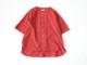 70/1コットンリネンシーチング近江晒加工 5分袖バンドカラーラウンドヘムビッグシャツP82137  prit