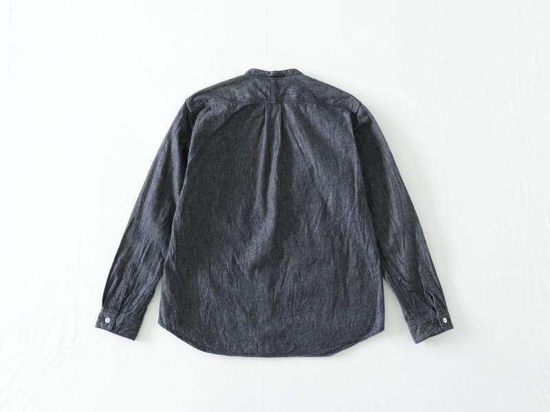 6オンス ノットインディゴデニム スタンドカラーシャツ 38051 RINEN men