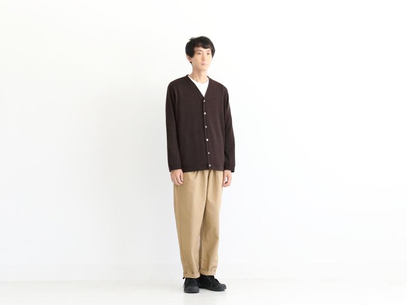 3/72ウール天竺編み カーディガン R13180 RINEN men