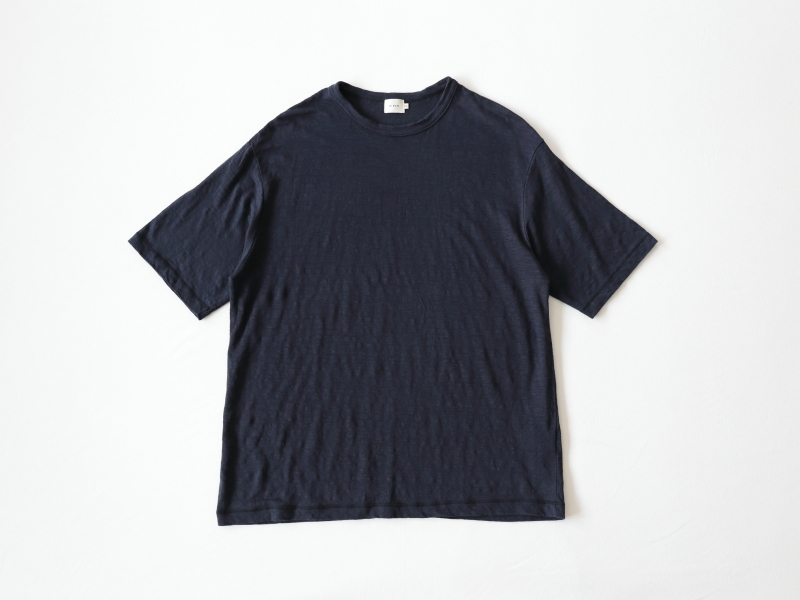 40/1リネン天竺 半袖クルーネック R14106 RINEN men