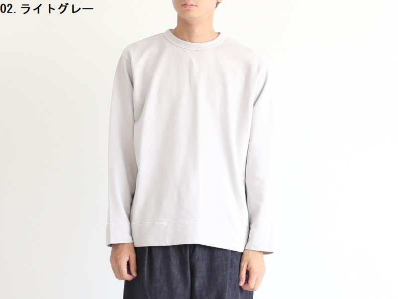 20/1オーガニック裏毛 クルーネック 19000 YASUMI men