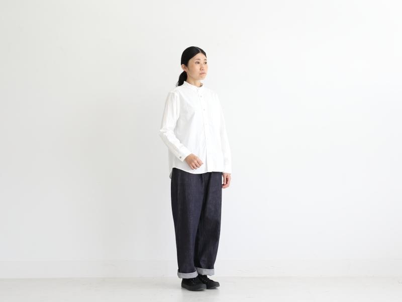 80/2ダウンプルーフ スタンドカラーシャツ  36001 TEIBAN women