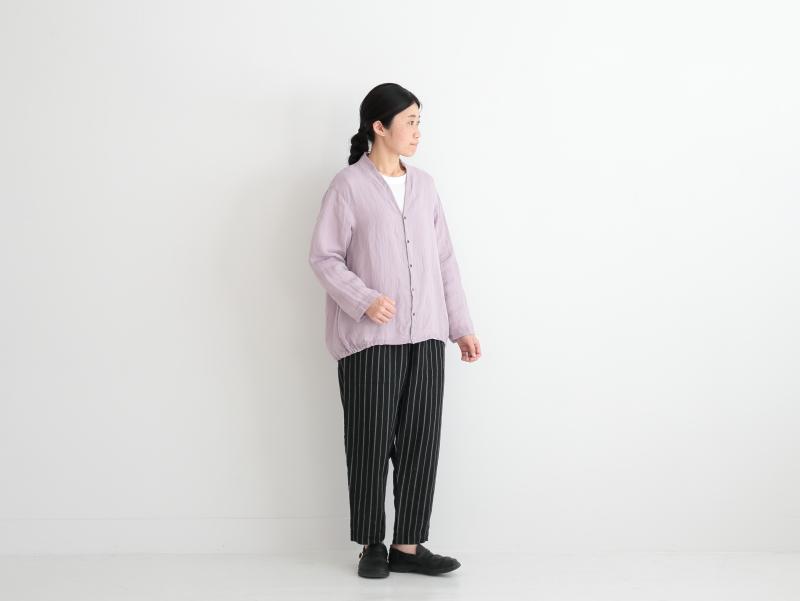 60/1リネン 裾ゴムカーディガン P81118  prit