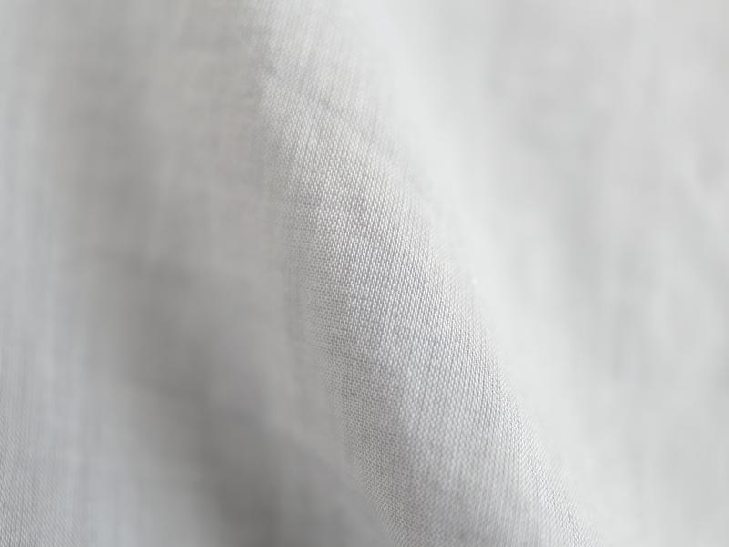 80/1ローン 長袖スタンドカラープルオーバーワイドロングシャツP82159  prit