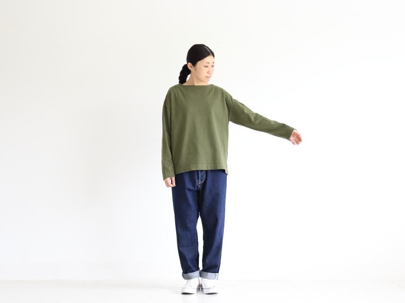 12/1空紡天竺 ボートネック P90177 prit