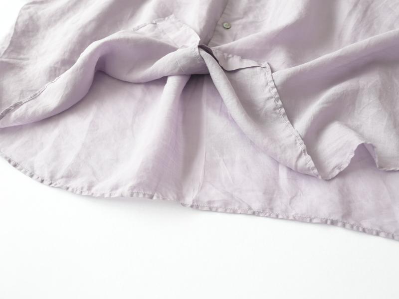 160/1ラミー 5分袖レギュラーカラービッグシャツ P82162  prit