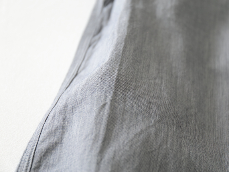 80/2ダウンプルーフ ハケメ スタンドカラーシャツ  38001 TEIBAN men
