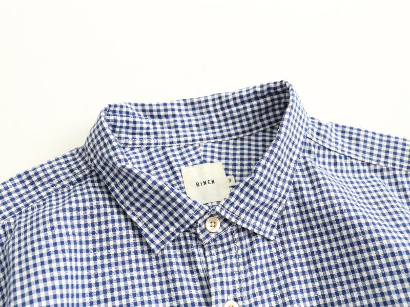 40/1オーガニックオックス ギンガムチェック レギュラーカラーシャツ 38023 TEIBAN men