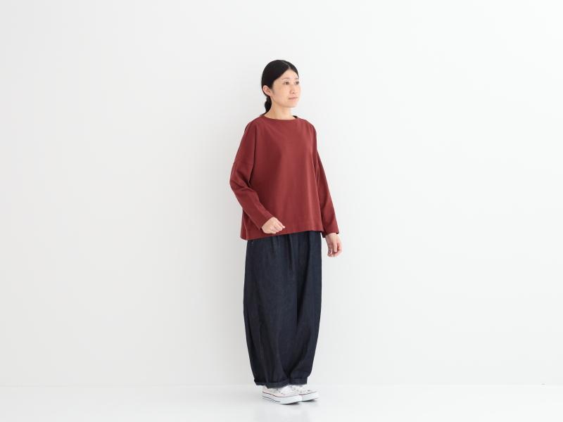 12/1空紡天竺 ボートネックワイドプルオーバー P90273 prit
