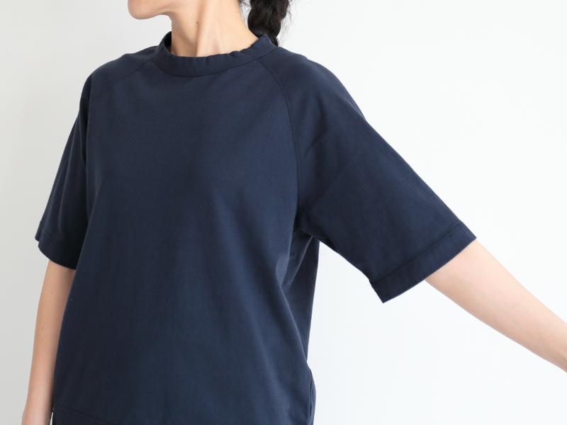 20/1オーガニック天竺 半袖ラグランクルーネック R11102 RINEN women