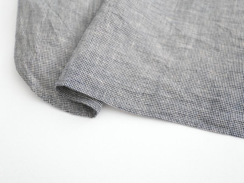 40/1強撚リネン スタンドカラースモックシャツ P81137  prit