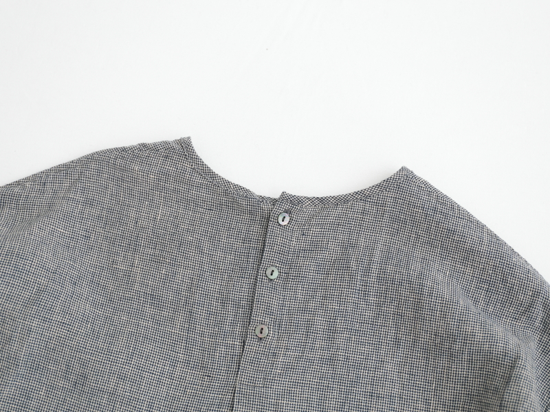 40/1強撚リネン 7分袖プルオーバー P81138  prit