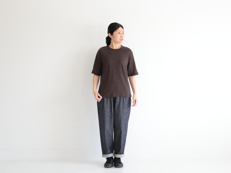 40/1リネン天竺 半袖クルーネック R11108 RINEN women