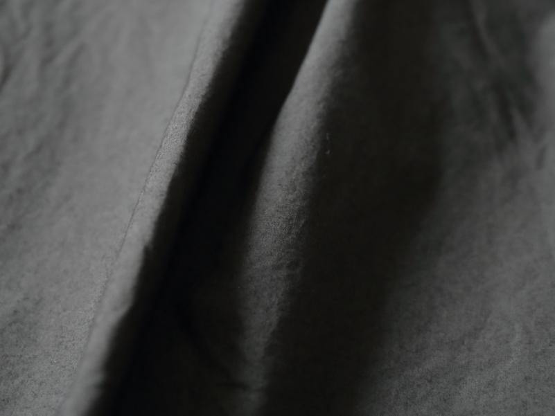80/1タイプライター 半袖スタンドカラープルオーバーシャツ R31105 RINEN women