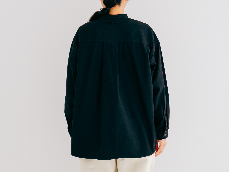 バックサテン スタンドカラーシャツ P80235 prit