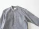 80/2ダウンプルーフ ギンガムチェック スタンドカラーシャツ  38001 TEIBAN men