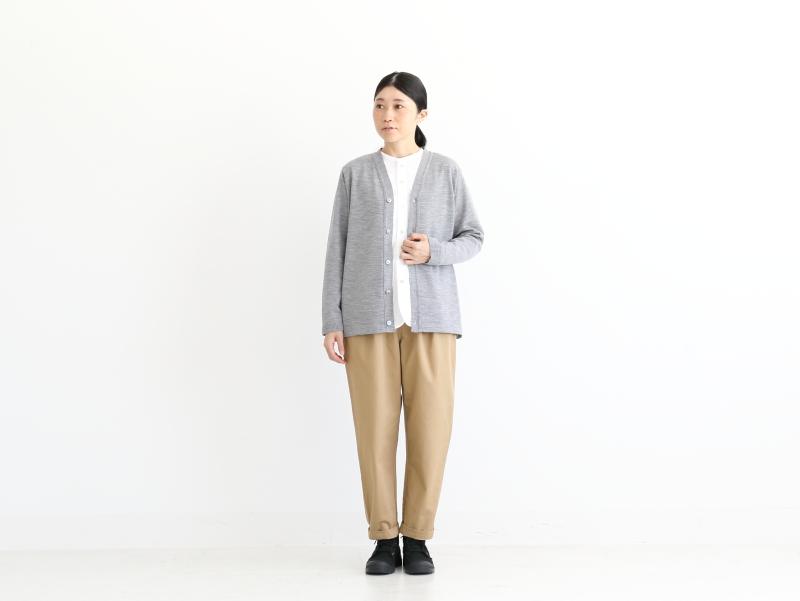 【30%オフ】3/72ウール天竺編み カーディガン R10180 RINEN women