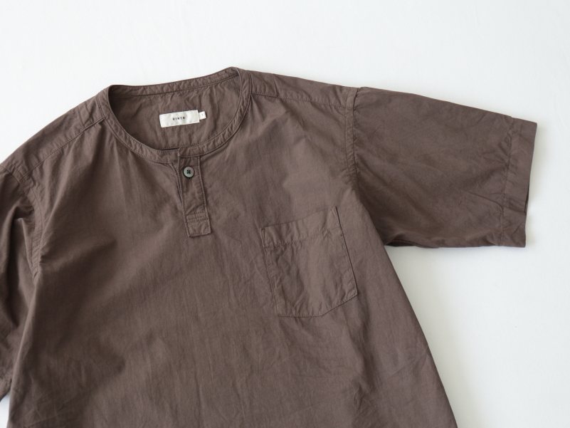 80/2ブロード 半袖ヘンリーネックシャツ R31110 RINEN women