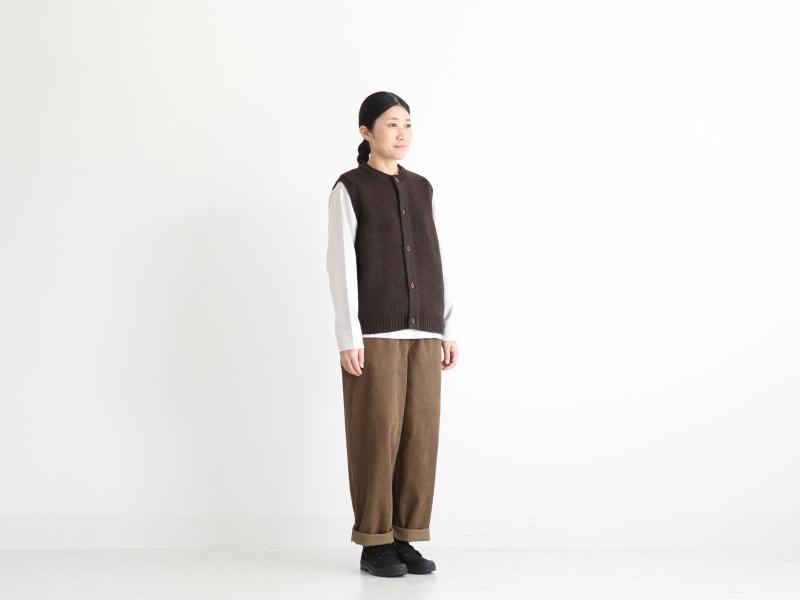 2/21ウール天竺編み ベスト R10181 RINEN women