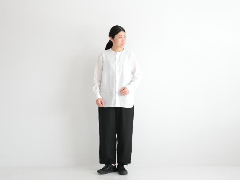 40/1リネン平織 リラックスイージーパンツ R41103 RINEN women