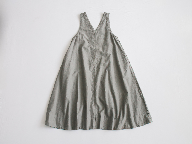 ライトモールスキン フレアーマキシジャンパースカート P80268 prit