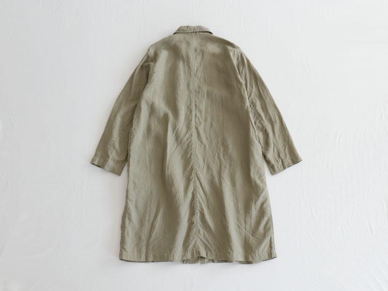 60/1リネン平織 比翼コート R24101 RINEN men