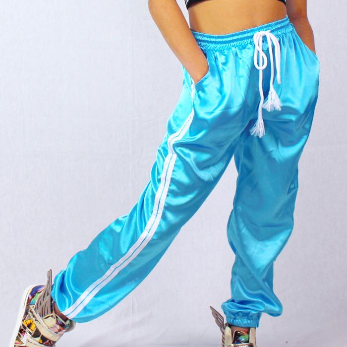 【訳あり】OUTLET アウトレット サテンパンツ 7カラー パンツ ロング ジャージ ダボパン ダンサー