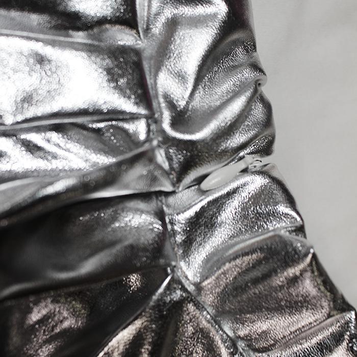 取寄せ納期約2〜3週間 チアガール衣装 2点セット チア コスプレ チアダンス ユニフォーム チアダン 長袖 レース シースルー メタリック ミニスカート インナーパンツ キッズ 女の子 子供 ピンク シルバー チアリーディング 120cm〜160cm ネコポス配送(275円)可能
