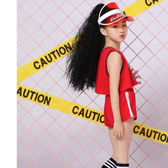 営業日は正午まで当日発送 タンクトップ ショート丈 赤色 レッド タンク バスケ チューブトップ  22番 ロゴ シャツ ダンス ガールズ レディス KIDS DANCE トップス 発表会 キャミソール  インナー キッズ ダンス 衣装 HIPHOP 子供 ヒップホップ ネコポス配送(275円)可能