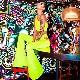 【ネコポス便対応/送料275円】うちの子が一番 ワンショルダー タンクトップ 無地 肩 ウエスト デザインバックル ヒップホップ 女の子 ブラック/ネオンイエロー/ネオンピンク キッズ〜大人 フリーサイズ(130cm〜大人)