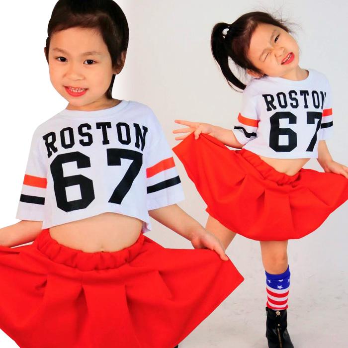 【訳あり】OUTLET アウトレット 半袖 ショート丈 シャツ 67番 ロゴ Tシャツ ダンス 衣装 ヒップホップ ガールズ BIG シャツ ダンス チア キッズダンス 子供 キッズヒップホップ チアガール キッズ 女の子 番号 ダンサー