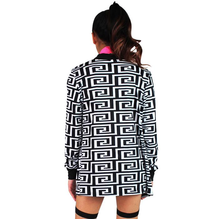 営業日は正午まで当日発送 幾何学模様 ジャケット ブルゾン 上着 女の子 ガールズ 子供 衣装 ブラック/ブラウン キッズ〜大人 フリーサイズ ヒップホップ ダンス 衣装 舞台衣装 ネコポス配送(275円)可能