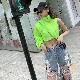 取寄せ納期約7〜14日 ブルゾン ジャケット ハーフカットデザイン ショート丈 ネオンカラー 長袖 ウィンドブレーカー ダンス衣装 野外フェス おしゃれ 個性的 セクシー ヒップホップ ダンス 衣装 女の子 レディス ガールズ ジュニア GIRLS HIPHOP