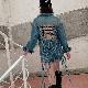 取寄せ納期約2〜3週間 送料無料 デニムジャケット 編み上げ セクシー デニム オーバーサイズ デザインジャケット トップス 長袖 シャツ おしゃれ 個性的 デザインジャケット アメカジ セクシー ヒップホップ ダンス 衣装 女の子 レディス ガールズ ジュニア GIRLS HIPHOP