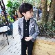 営業日は正午まで当日発送 ジャケット 男の子 フォーマル 子供 カジュアル 上着 レッド/ブルー/グレー 6サイズ 90cm 100cm 110cm 120cm 130cm 140cm ヒップホップ ダンス 衣装 ネコポス配送(275円)可能
