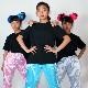 【訳あり】OUTLET アウトレット カラー半袖Tシャツ 女の子 男の子 キッズユニセックス ブルー/イエロー/オレンジ/レッド/ブラック S/L ダンサー